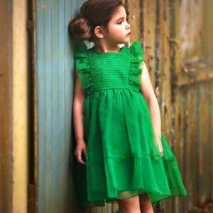 Trish Scully Alice Dress Emerald Green Organza 5